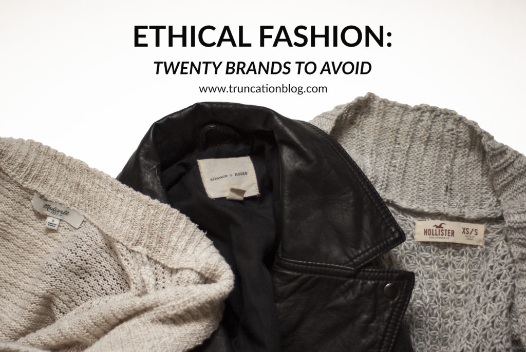 Karin Rambo of truncationblog.com shares 20 Brands to Avoid
