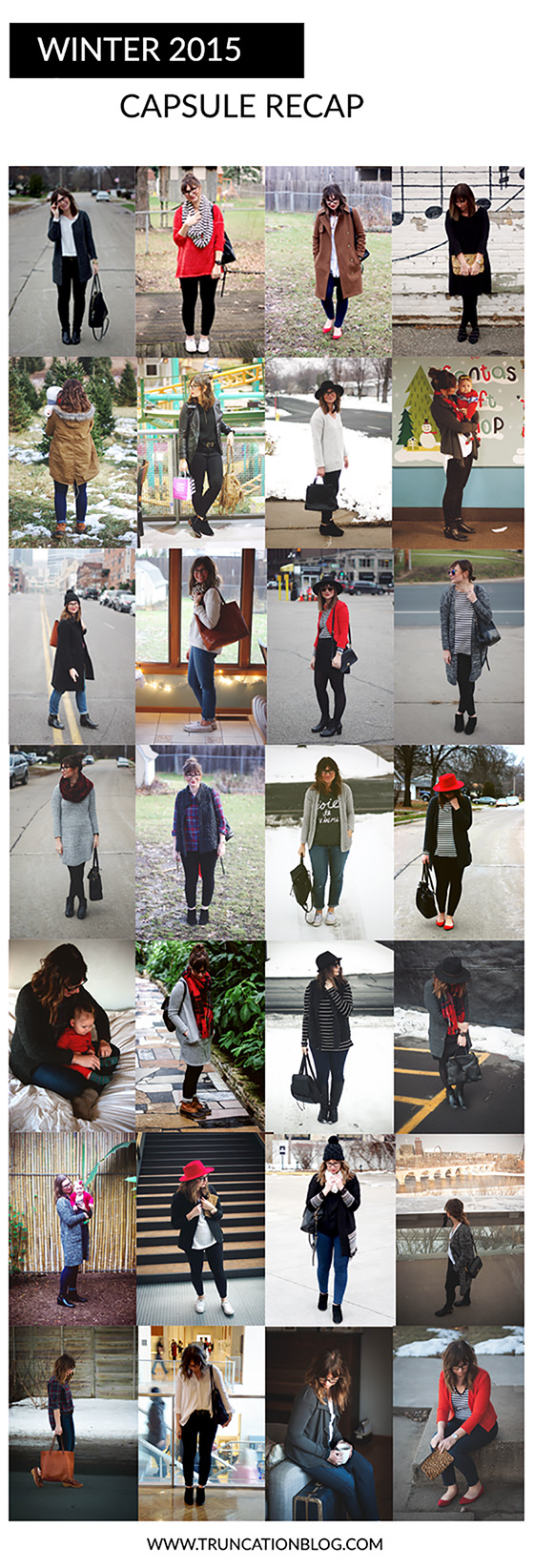 Karin Rambo of truncationblog.com does a recap of her winter capsule wardrobe