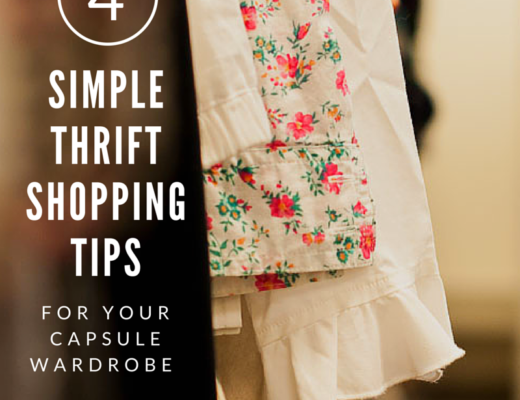 Karin Rambo of truncationblog.com shares her 4 Simple Thrift Shopping Tips for Your Capsule Wardrobe