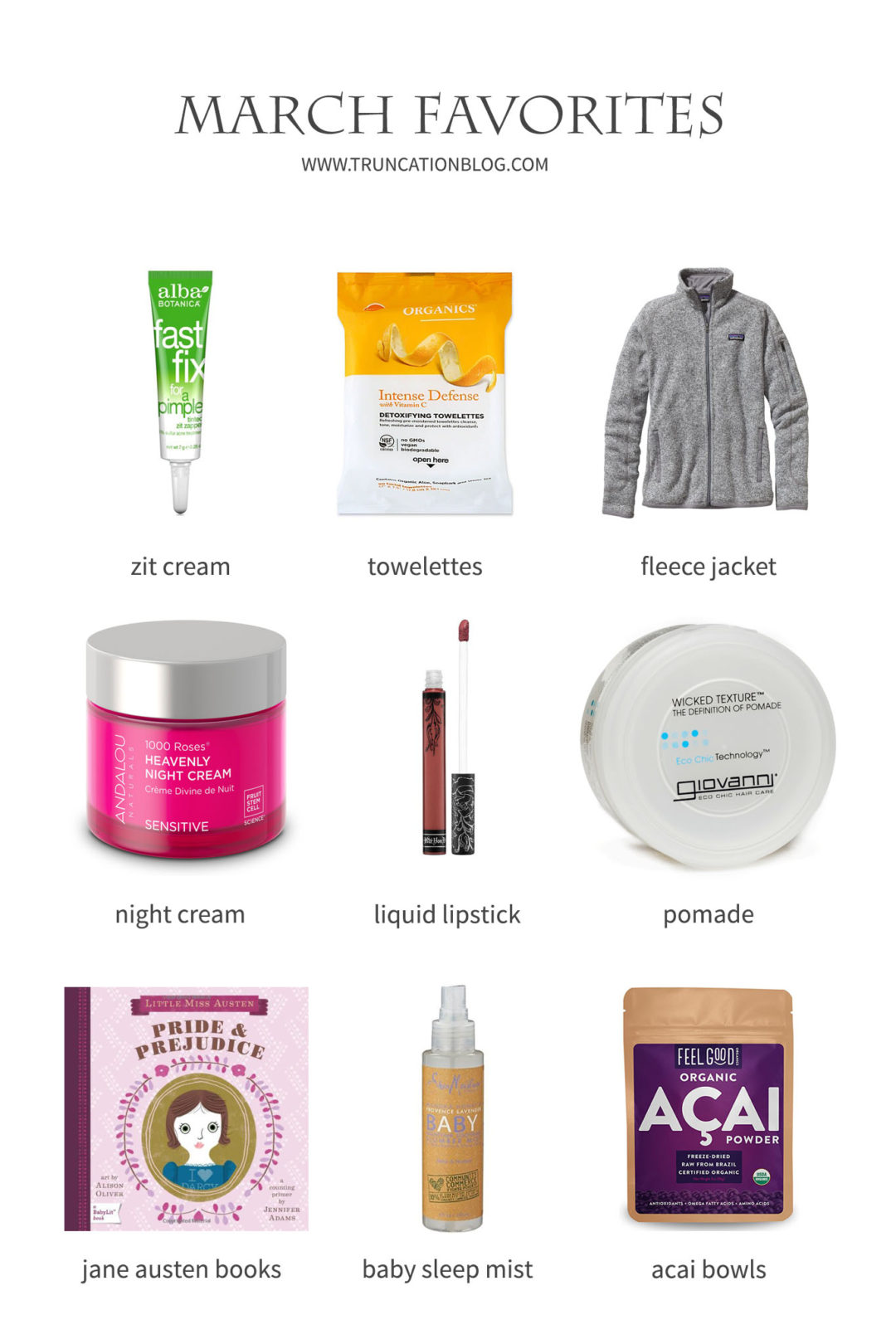 Karin Rambo of truncationblog.com shares her March Favorites: Ethical Beauty, Cruelty Free Makeup, and Skincare
