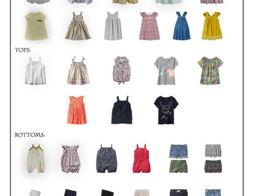 Karin Rambo of truncationblog.com shares her Toddler Girl Capsule Wardrobe 1