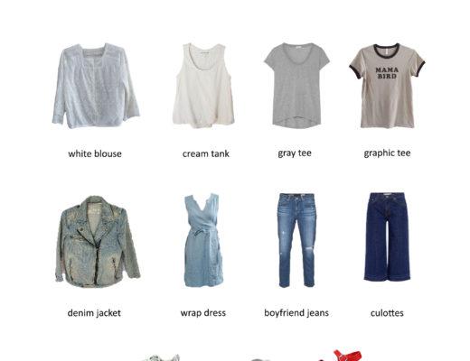 Karin Rambo of trunctionblog.com shares her 5 Day Travel Capsule Wardrobe