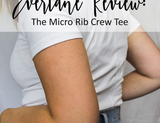 "My review of the Everlane Micro Rib Crew Tee. Click through to post for styling ideas, honest thoughts & a video showing the shirt in ""real life"""