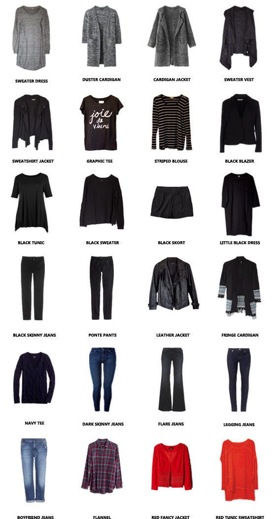 Winter Capsule Wardrobe: January-May 2015