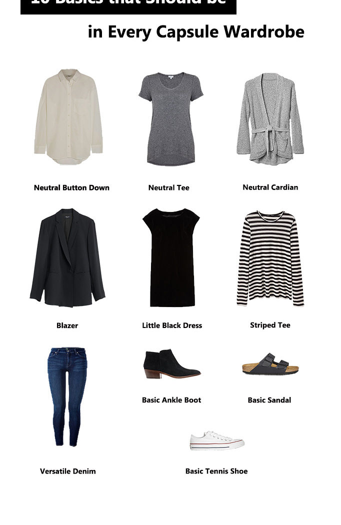 Throwback: 10 Basics that Should be in Every Capsule Wardrobe