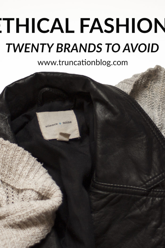 Ethical Fashion: 20 Brands to Avoid