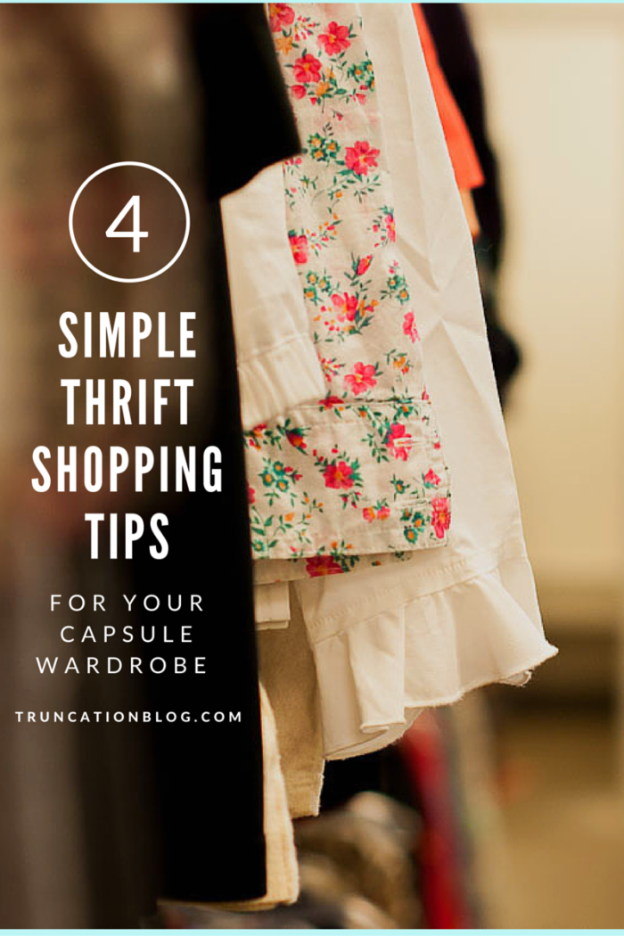 4 Simple Thrift Shopping Tips for Your Capsule Wardrobe
