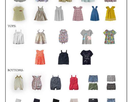 Karin Rambo of truncationblog.com shares her Toddler Girl Capsule Wardrobe 1