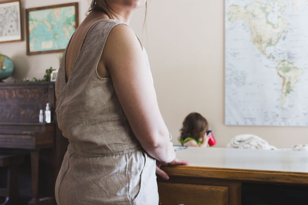 Karin Rambo of truncationblog.com shares her tips on styling a jumpsuit postpartum