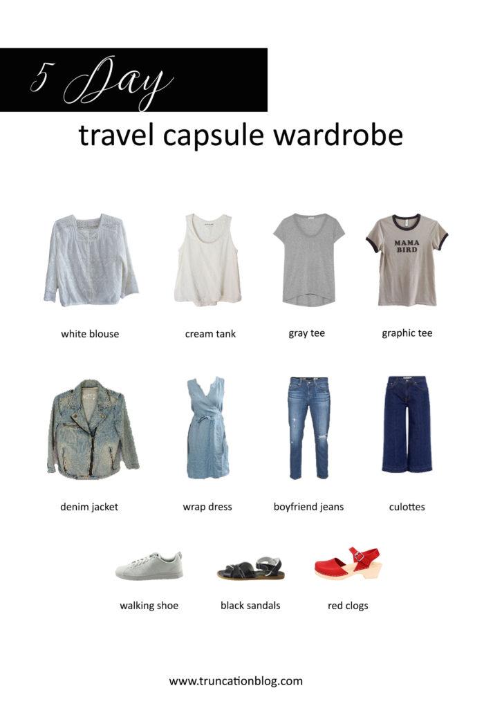 Five Day Travel Capsule Wardrobe