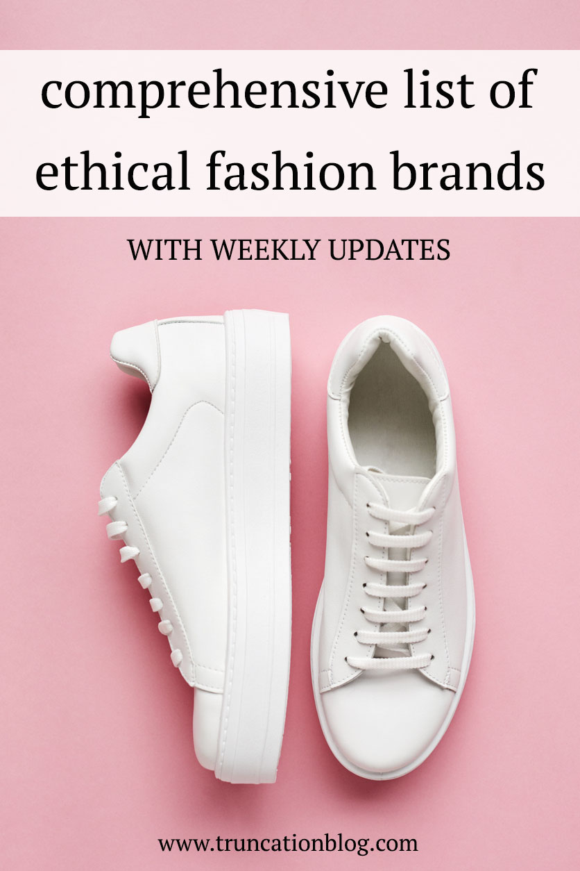 Comprehensive List of Ethical Brands #ethicalfashion