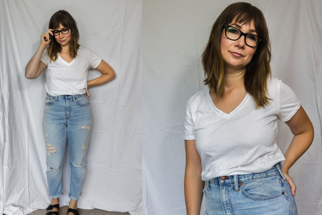 One White Tee 3 Ways // Feat. The Cotton V from Everlane