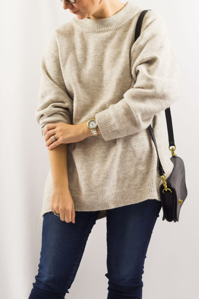 Black Boots and a Tan Slouchy Sweater-1