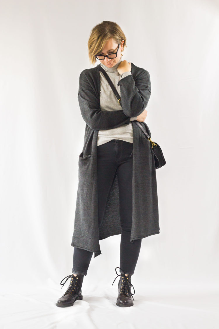 Winter Capsule Outfit No. 51: Long Cardigan & Turtleneck