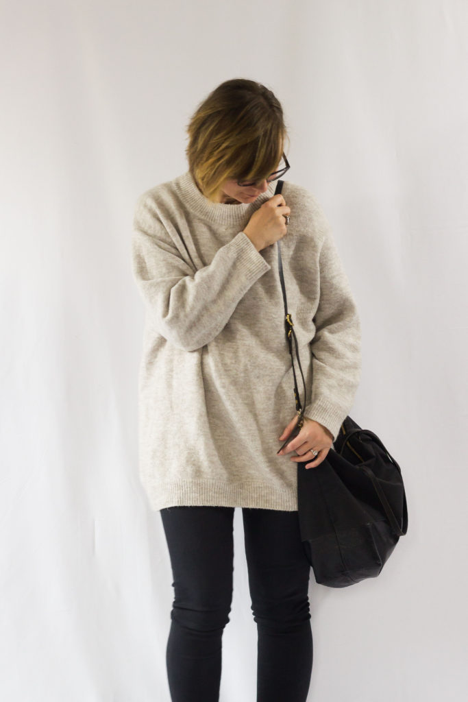 Oversized Sweater and Lace Up Boots-1