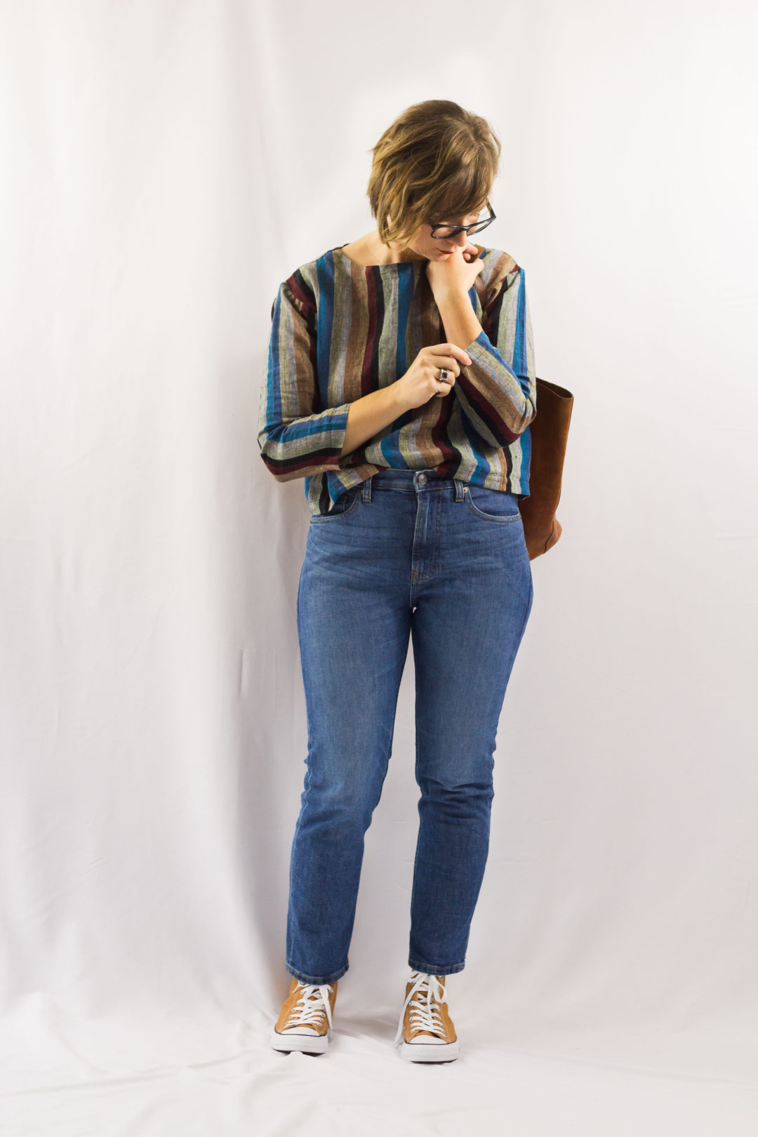 Stripes and Boyfriend Jeans-1