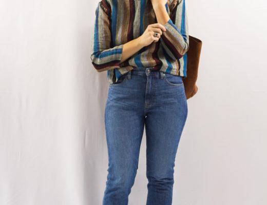 Stripes and Boyfriend Jeans-1