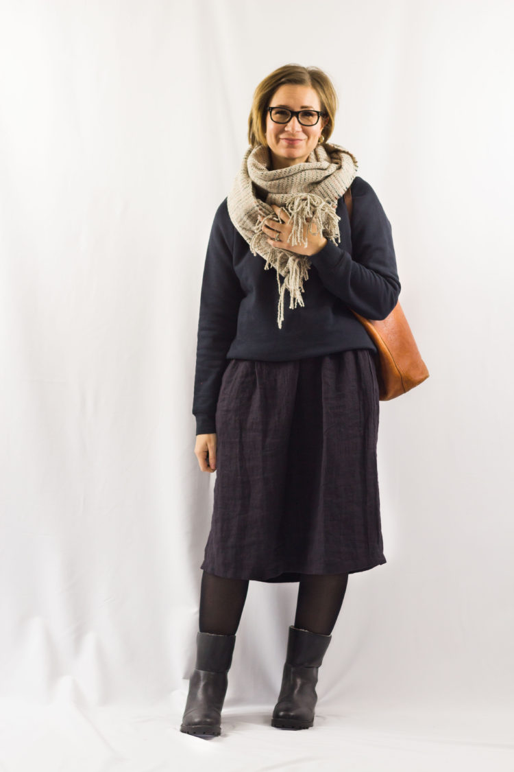 Winter Capsule Outfit No. 47: Turning a Dress into a Skirt