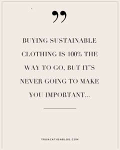 What Ethical fashion can't do