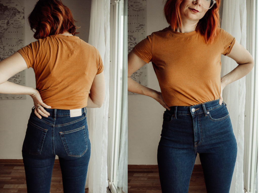 Everlane Denim, Denim Guide, Everlane Denim Review, The Best Skinny Jeans, Dark Wash Skinny Jeans, High Waisted Skinny Jeans