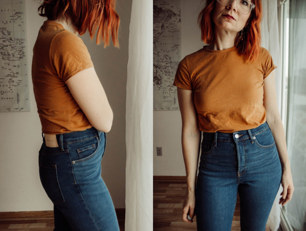 Everlane Denim, Everlane Denim Review, Dark Wash Jeans, The Most Comfortable Jeans, Cigarette Jeans, High Waisted Jeans