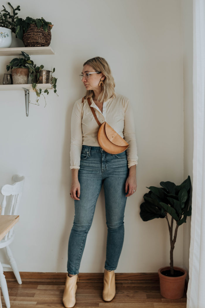 A Week of Outfits + Madewell Eco Denim, Dr. Marten's & Everlane's Day Boot