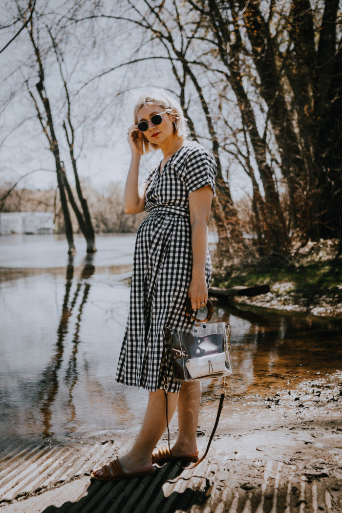 Gingham Wrap Dress + Staying True to Who You Are