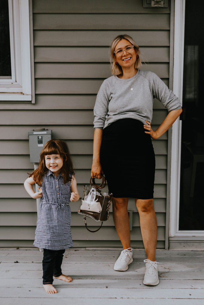 A Week of Dresses: Sweatshirt over Dress