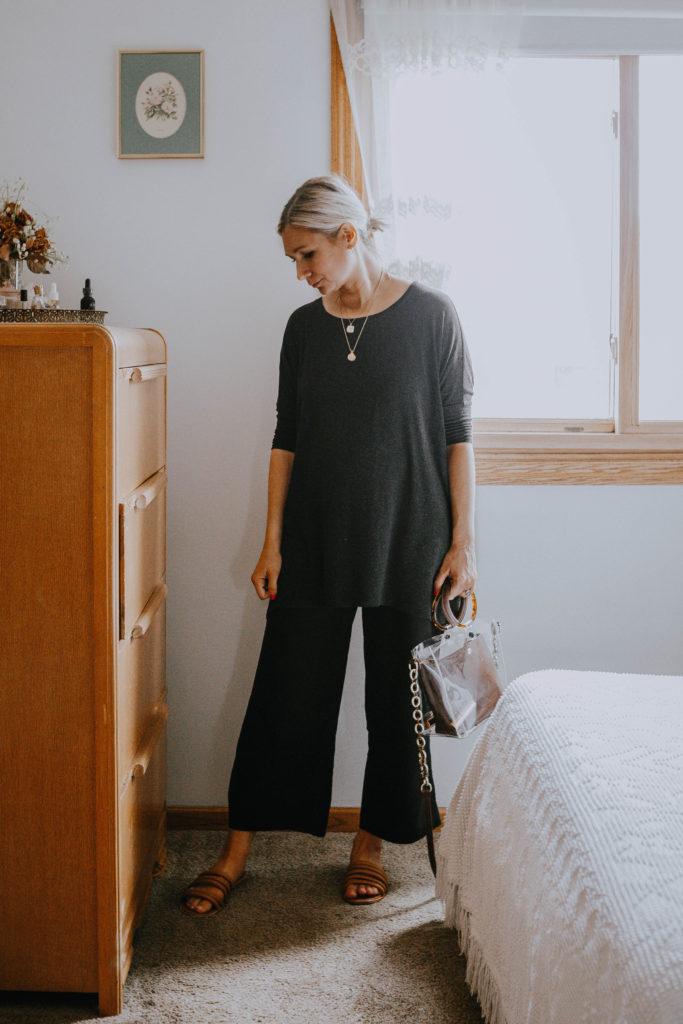 What I Wore Last Week: wide leg maternity pants