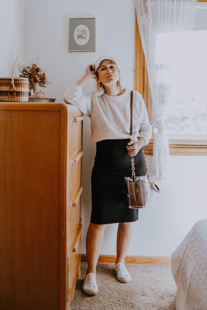 What I Wore Last Week: Sweater Over Dress