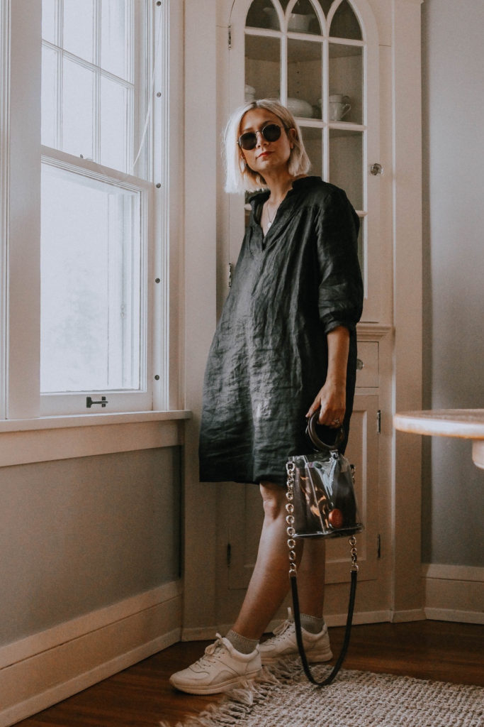 What I Wore: A Week of Dresses. Styling socks with sneakers and a dress