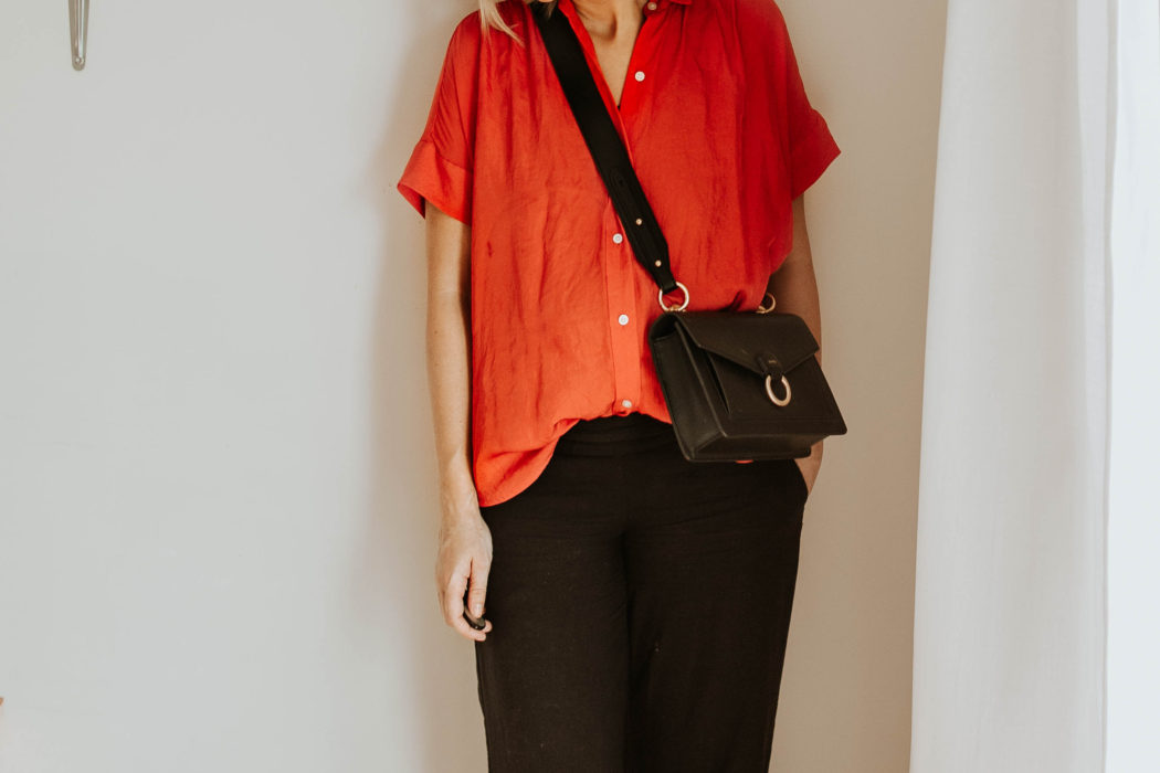 30 Days of Summer Style Day 13: The Red Blouse