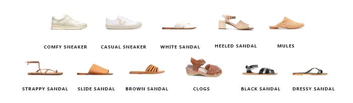 Summer Capsule Wardrobe Shoes