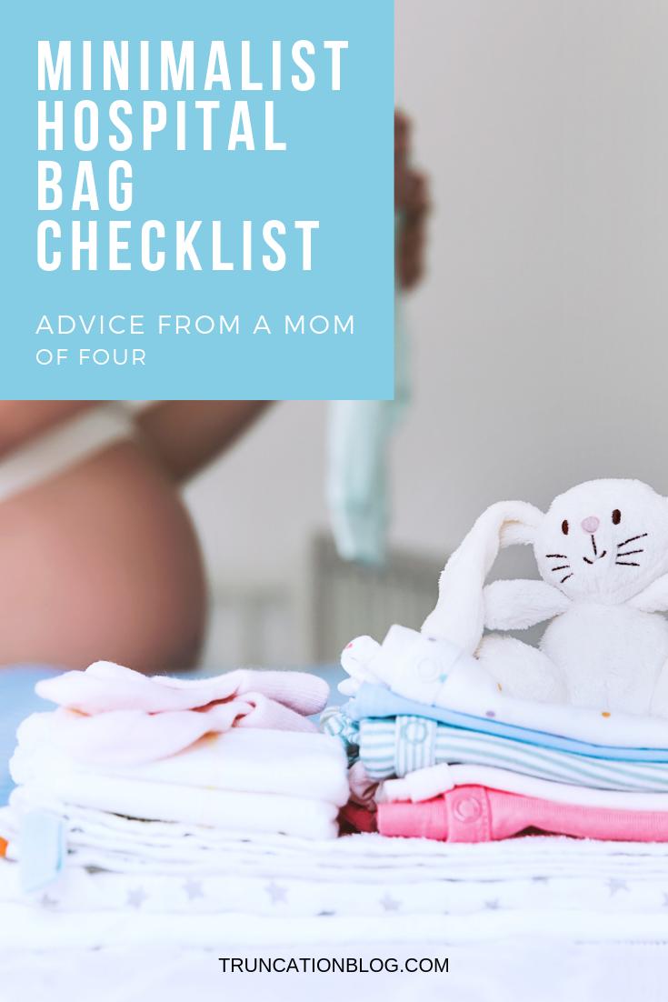 minimalist hospital bag checklist, hospital bag, hospital bag checklist, minimalist hospital bag