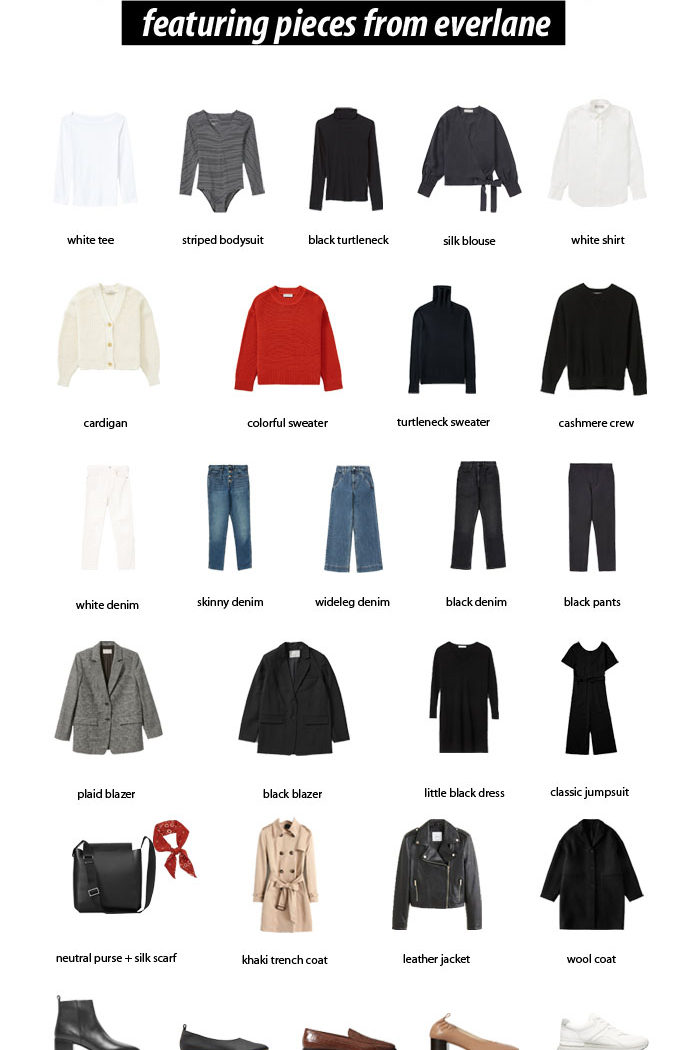 28 Piece French Inspired Capsule Wardrobe
