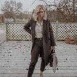 What I Wore Last Week: Everlane Outerwear + Everlane Coat, Cap Toe Slingbacks, Kate Spade Purse, Washed Black Denim, Linen Button Down