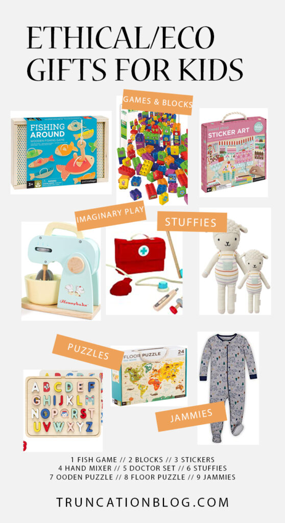 Ethical/Eco Gift Guides for Women & Kids, Gift ideas for toddlers