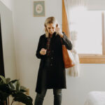 Styling my Oldest Clothes, J Crew Lady Coat, Madewell Boyfriend Flannel, Madewell Transport Tote, Nine West Tassel Loafers, Everlane Cheeky Straight Jeans