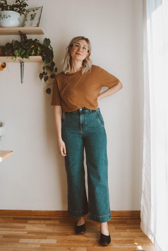Everlane Denim Guide & Review the Wide Leg Jean