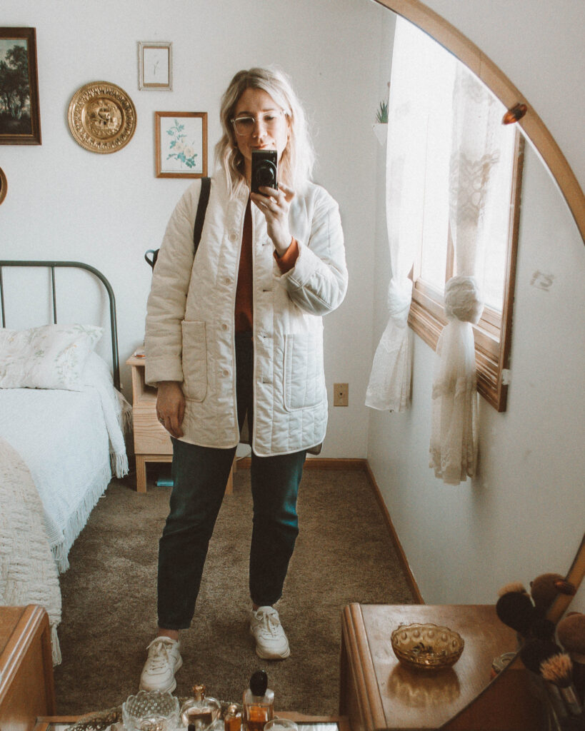 6 Days of Everlane Outerwear: Outfit Ideas + Reviews, Cotton Quilted Jacket