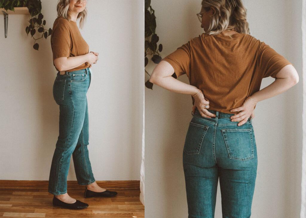 Everlane Denim Guide & Review the Super Straight Jean
